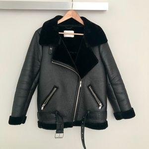 Zara Oversized Biker/Aviator/Velocity Jacket/Coat